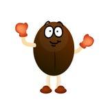 Coffee bean character mascot Royalty Free Stock Photos