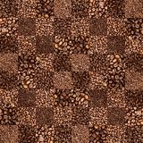 Coffee bean checkers tiled pattern Royalty Free Stock Photo