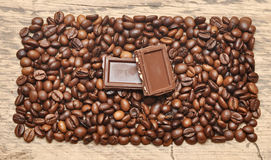 Coffee bean and chocolate Royalty Free Stock Photography