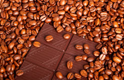 Coffee bean and chocolate Stock Image