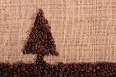 Coffee bean christmas tree Stock Image