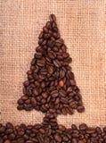 Coffee bean christmas tree vertical Stock Photo