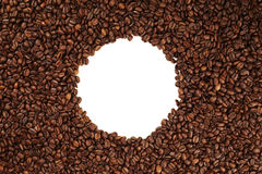 Coffee bean circle Royalty Free Stock Images
