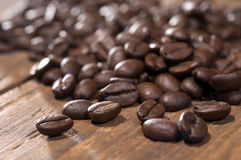Coffee bean close-up Royalty Free Stock Photos