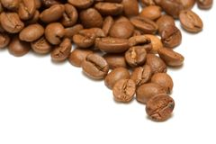 Coffee bean close up Royalty Free Stock Images