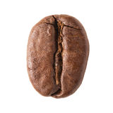 Coffee bean. Close up of single coffee bean isolated on white background stock images
