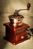 Coffee bean and coffee bean grinder Royalty Free Stock Photos