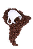 Coffee Bean Continent Royalty Free Stock Image