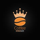 Coffee bean crown design menu background Royalty Free Stock Photography