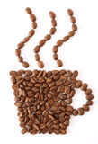 Coffee bean cup Royalty Free Stock Photo