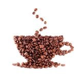 Coffee bean cup stock photos