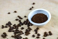 Coffee bean,cup royalty free stock photo