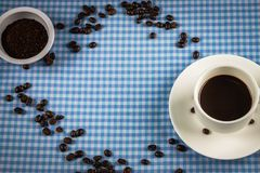 Coffee bean,cup stock image