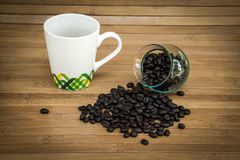 Coffee bean and cup of coffee Royalty Free Stock Photography