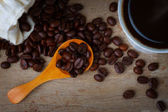 Coffee Bean With A Cup of Coffee Royalty Free Stock Image