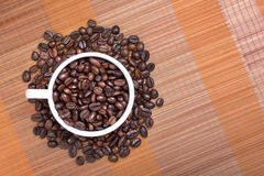 Coffee bean in cup Stock Photo