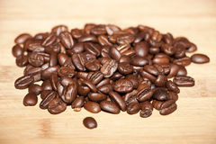 Coffee bean. Delicious coffee beans selective focus Royalty Free Stock Photos
