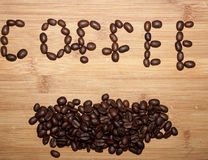 Coffee bean. Delicious coffee beans selective focus Stock Images