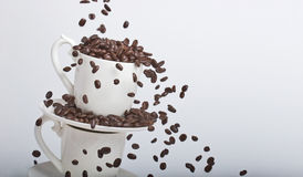 Coffee Bean Falls Royalty Free Stock Photography