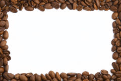 Coffee Bean Frame. On white Royalty Free Stock Image