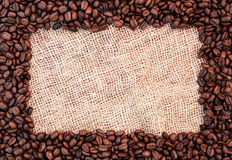 Coffee bean frame Royalty Free Stock Images