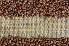 Coffee bean frame background for you text Royalty Free Stock Photography