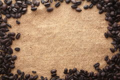 Coffee bean frame Royalty Free Stock Image