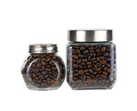 Coffee bean in glass bottle Royalty Free Stock Photography