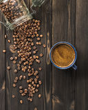 Coffee and bean Royalty Free Stock Image