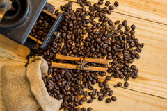 Coffee bean and grinder Royalty Free Stock Photography
