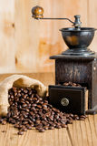 Coffee bean and grinder Stock Photography