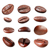 Coffee bean group isolated Stock Images