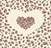 Coffee bean heart Stock Photos