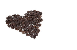 Coffee Bean Heart Royalty Free Stock Photography