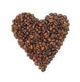 Coffee Bean Heart, isolated Royalty Free Stock Photography