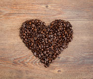 Coffee Bean Heart Royalty Free Stock Photo