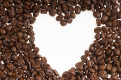 Coffee bean heart shape Royalty Free Stock Image