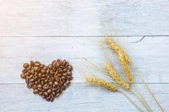 Coffee bean heart shape Stock Photography