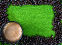 Coffe Bean. Coffee bean and hot coffee Stock Images