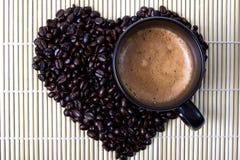Coffe Bean. Coffee bean and hot coffee Stock Photo