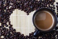 Coffe Bean. Coffee bean and hot coffee Stock Image