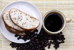 Coffe Bean. Coffee bean and hot coffee Stock Photography