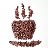 Coffee bean isolate Stock Images