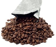 Coffee bean isolated Royalty Free Stock Images