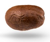 Coffee bean isolated on white background with clipping path Royalty Free Stock Photography