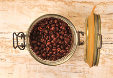 Coffee bean in jar Royalty Free Stock Image