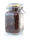 Coffee Bean Jar. Large glass jar full of coffee beans Stock Photo