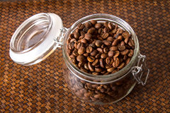 Coffee Bean. In the jar Royalty Free Stock Image