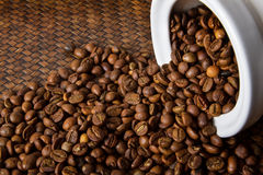 Coffee Bean. In the jar Royalty Free Stock Photos