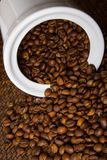 Coffee Bean. In the jar Stock Images